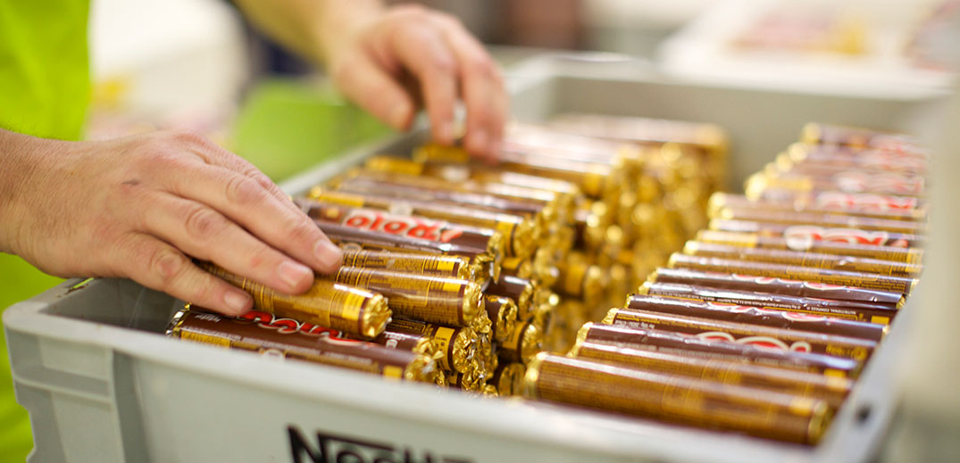 Nestlé employee at work