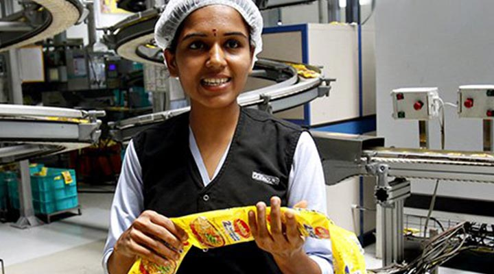 Female Maggi factory worker