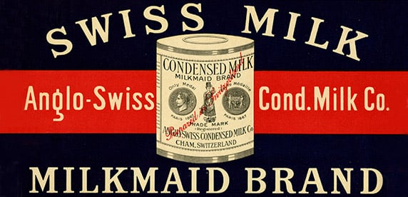 condensed milk advertising, Milkmaid brand, Anglo-Swiss Condensed Milk Company