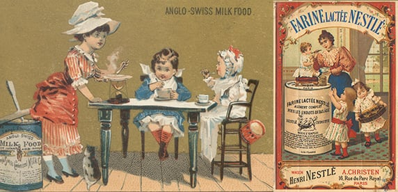 advertising by Anglo-Swiss and Nestlé'