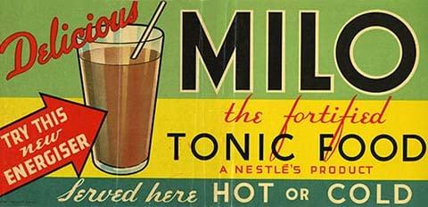 Vintage Milo advertisement