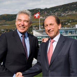 Peter Brabeck-Letmathe, left, Nestlé Chairman and Paul Bulcke, Nestlé Chief Operationg Officer