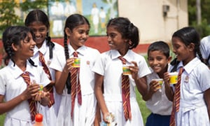 children enjoying Nespray in Sri Lankan