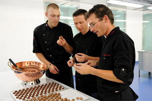 Master chocolatiers at the Nestlé Centre of Chocolate Excellence
