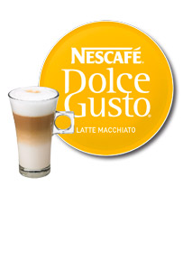 Nescafé Dolce Gusto icon and filled glass