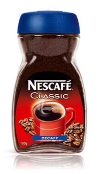 Caffeine in nescafe instant coffee