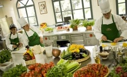Chefs working at the Casa Buitoni R &D Centre, Sansepolcro, Italy