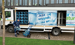 Compressed natural gas delivery truck in Poland