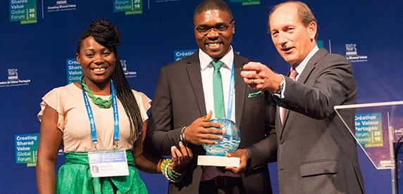 The Nestlé CSV Prize 2016 winner is Argo-Hub from Cameroon
