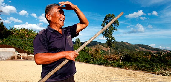 Mr Wang, coffee farmer, China