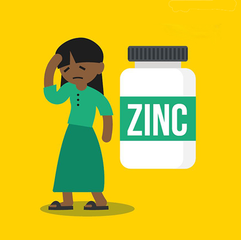 Zinc deficiency infographic