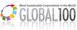 The global 100 logo