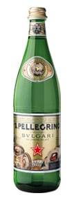 San Pellegrino's limited-edition Bvlgari bottle
