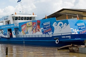 Nestlé floating supermarket
