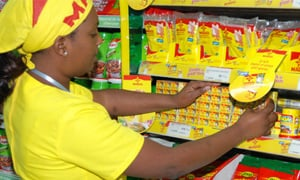 Maggi products on supermarket shelves