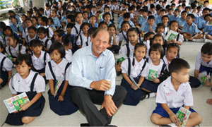 Paul Bulcke, Nestlé Chief Executive Officer, visits a school in Thailand