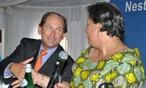 Paul Bulcke (Nestlé CEO) and Hanna Tetteh (The minister of Industry and Trade)