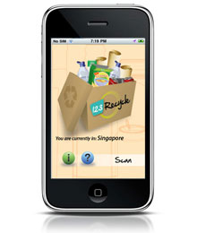 Nestlé Singapore's 123 Recycle app for the iPhone