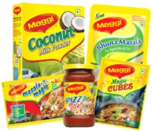 Selection of culinary Maggi brands