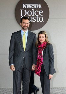 Crown Prince of Spain Felipe de Borbón and the Princess of Spain Letizia Ortiz