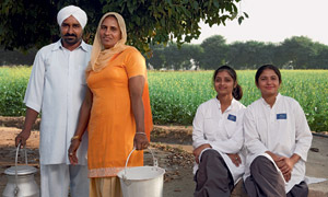 Dairy farmers in India