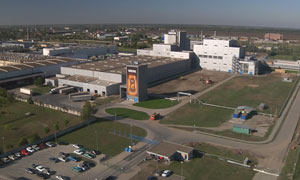 Nestlé's soluble coffee factory in Timashevsk, Russia