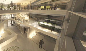 Design for the interior of the Product Technology Centre extension