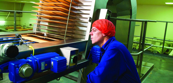 Kit Kat wafers on the production line at Nestlé's factory in York