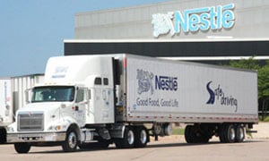 Nestlé articulated truck in the USA