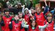 IAAF ambassador Wilson Kipketer and school children in Denmark