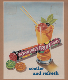 Fruit Gums advert, 1954