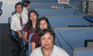 Employees at Nestlé's call centre in Mexico