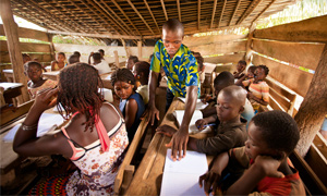 New classroom facilities in Mahounou, Côte d'Ivoire