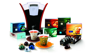 Special. T machine with cups and capsules