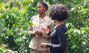 Female coffee farmer in Kenya