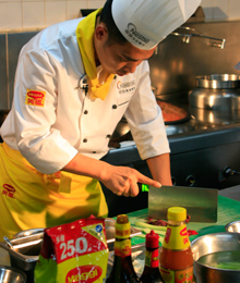 Chinese chef working with Maggi products