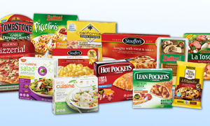 Selection of Nestlé frozen and chilled foods