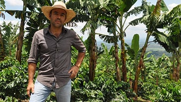 Nestlé works with the Colombian Coffee Growers Federation, which represents some 560,000 producers, including César Augusto Garz