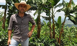 Colombian coffee farmer César