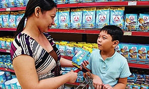Consumer buying Nestlé products in the Philippines