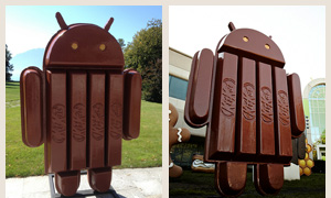Android KitKat statues