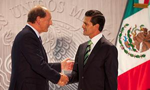 Paul Bulcke greets Enrique Peña Nieto