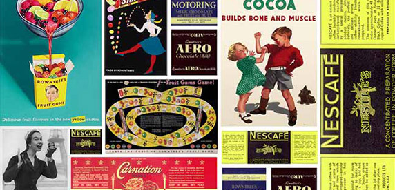 Collage of vintage posters featuring in the memory pack