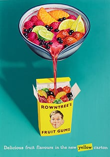 Fruit Gum box vintage poster