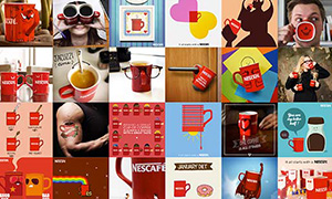 Nescafé picture collage