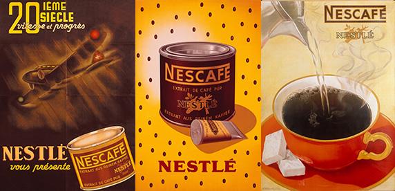 vintage Nescafé ads