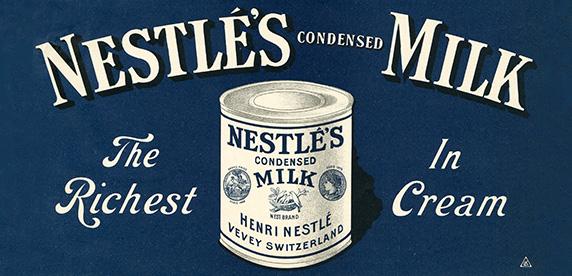 Nestlé condensed milk poster