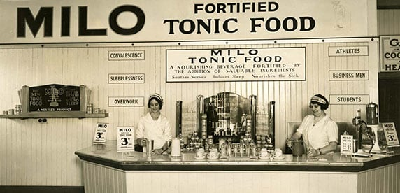 Milo stand at Royal Easter Show Sidney 1934