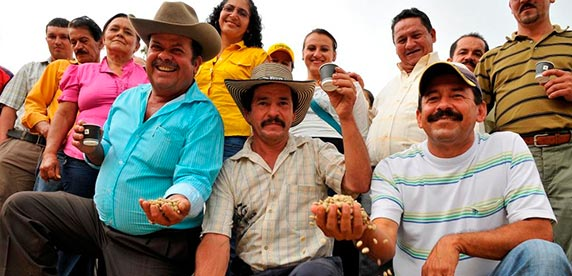 Coffee farmers in the Caldas region in Colombia