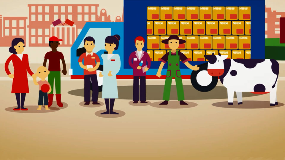 Animation of Nestlé's commitments